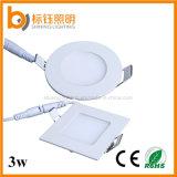 3W AC85-265V Flushbonading Installation LED Down Light Round and Square LED Panel Ceiling Lamp