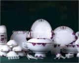 Jingdezhen Porcelain Tableware Kettle Set (QW-Purple Flower)