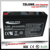 6V 8ah Sealed Rechargeable Lead Acid Battery for UPS