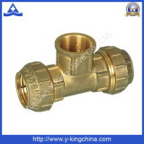 Brass Elbow Tee Coupling for Pipe Fitting (YD-6047)