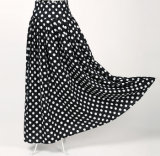 2017 Latest Designs Cotton Fabric Polka DOT Long Maxi Skirts