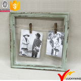 Clothespin Shabby Chic Look Wall Antique Colored Photo Frame