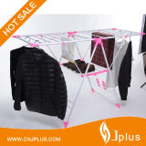 SKD Packing Foldable Powder Coated Tube K-Type Clothes Dryer Rack with Shoe Rack Jp-Cr109PS