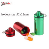Colored Aluminum Pill Container Box 52X22mm