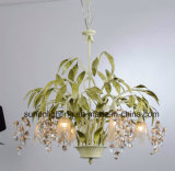 Russia with Green Leaves 6 Lights Crystal Chandelier