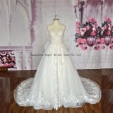 Pretty Purely Manual Flower Organza A-Line Wedding Dresses Beaded Floral
