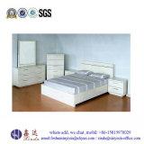 China White Color Single Bed Melamine Bedroom Furniture (SH041#)