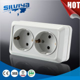 Grounding Two Gang Schuko Wall Socket Earthing 2 Gang European Standard