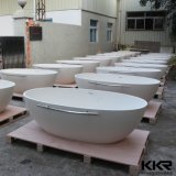 Corian Solid Surface Bathroom Freestanding Bathtub for Hotel Projects