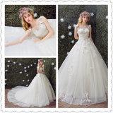Graceful Lace Flower Princess Ball Gown Wedding Dress (Dream-100071)