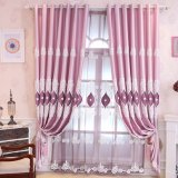 New European Style Embroidery Blackout Window Curtain (07F0045)
