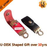 Silkscreen/Embossed/Coining Custom Logo Leather Gift USB (YT-5101)
