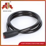 Jq8220 Black Color Durable Steel Cable Lock Bicycle Lock