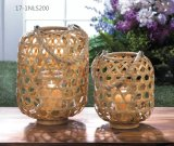 Cool Unique Vintage Style with Handle of Weave Bamboo Lanterns