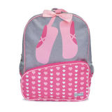 Stylish Girl′s Backpack Bags and Lunch Tote with Ballet Dancing Shoes Logo Printed, OEM Welcomed