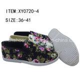 Hotsale Women Footwear Shoe Canvas Injection Shoes (XY0720-4)