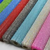 Crystal Roll Heat Transfer Rhinestone Fabric Sticker Mesh for Wedding Decoration (TM-245/2mm colored)