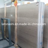 Light Grey Wood Marble Stone Slab for Floor Tile/Wall Cladding