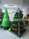 Christmas Tree Cardboard Display for Decoration, Paper Pallet Display Stand with 5 Trays Holding 80kg Sturdy and Strong