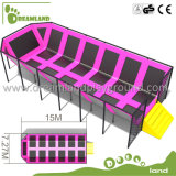 Wholesale Cheap Large Trampoline Park with Foam Pit & Basketball Hoop