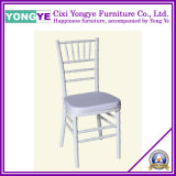 Event White Resin Chiavari Chair with Cushion