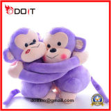 Purple Hug Couple Plush Toy Monkey