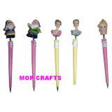 Polyresin Pen Crafts with Resin Cartoon Figure