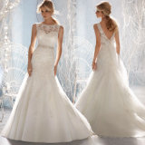Mermaid Wedding Dresses Lace Crystal Beading Bridal Wedding Gowns Wdo82