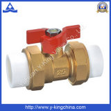 Double Connectors Brass PPR Ball Valve (YD-1002)