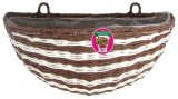 Poly Rattan Stripe Hanging Basket