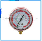 70mm Red Iron Housing Pressure Meter