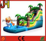 Factory Price Inflatable Coconut Trees Slide with Pool