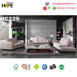 Good Quality Modern Furniture Pink Genuine Leather Sofa Set (HC229)