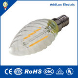 Ce RoHS 3W-8W E14 Clear Glass LED Filament Candle Bulb