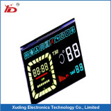 Customeried LCD Display with White Background Black Segments
