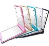 Plastic with 8 Lighted Makeup Mirrors
