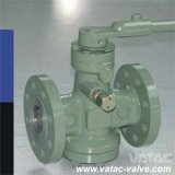 Cast Steel RF Flange Ends Lubricated Plug Valve with Lever