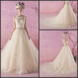 Lace Bridal Wedding Gown Sheer Custom Wedding Dress G2016