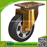 Medium Duty Balck Rubber on Aluminum Core Caster