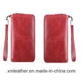 Colorful Leather Wallet Women Zip Wallet