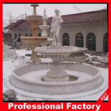Cheap White Marble Stone Garden Larger Water Fountain with Statue