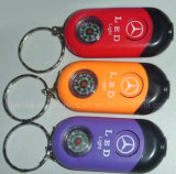 Promotional LED Flashing Compass Keychain with Logo Printed (3001)