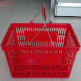 Metal Handle Plastic Supermarket Basket (YD-Z2)