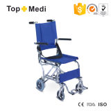Safe Ultralight Aluminum Transit Lightweight Wheelchairwith Seat Belt