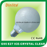 G95-40W 60W 100W Ice Crystal Clear Incandescent Bulb