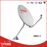 60cm Offset TV Satellite Dish Antenna for Outdoor