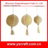 Christmas Decoration (ZY11S374-D-Z-X) Christmas Golden Snow Ball