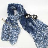 Women Fashion Printing Flower Scarf, Lady Warmer Shawl Fashion Accessory
