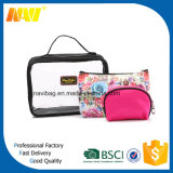New High Quality Fashion Clear PVC Toiletry Bag with Handle for Travel