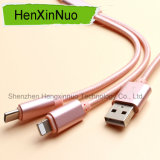 Nylon New Type 2 In1 USB Cable for Android and iPhone